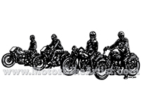 RACEDAY ANYDAY vintage motorcycle vector artwork