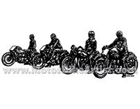 RACEDAY ANYDAY vintage motorcycle vector artwork