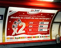 Advertising Campaign in Paris Metro