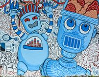 Mural at Nepal Communitere for KMMF