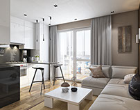 3D Rendering For A Stylish Apartment Interior
