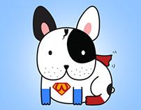 French Bulldog Cartoon Series - American Stars