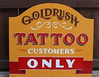 Goldrush Tattoo Saloon Doors