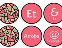 Memorama de signos tipográficos