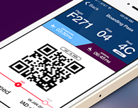 Southwest Boarding Pass Interface (concept)