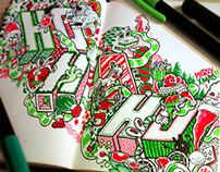 Holiday Doodles: Xmas & 2014
