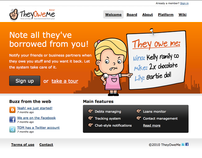 TheyOweMe - Note all they've borrowed from you!