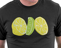 Lemon and Lime Pop Art T-Shirt
