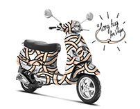 ''a long hug for Vespa'' for Art Vespa 2013