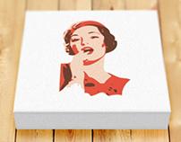 Vintage Pinup Girl Poster Print