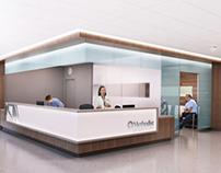 P + W Healthcare Interior Renderings