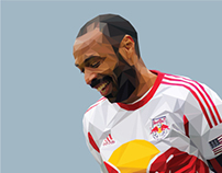 Thierry Henry Polygon Art