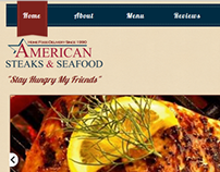 American Steaks & Seafood Website