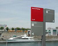 Signalisation du Vieux-Port de Montréal