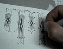 PM / Monogram Tattoo Design.