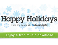 Holiday Email for Choose Digital