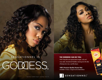 Sensationnel Goddess Advertisement Spreads
