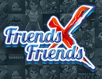 Friends X Friends Logo Design