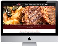 La Recova, estructura y diseño para página web
