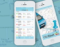 An iOS 7 App Design for OtoFleet by Vinfotech