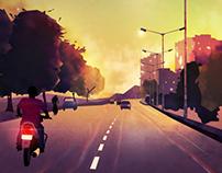 On Road....