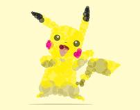 Starter pokémon illustrations