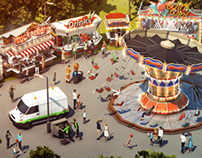 Lowpoly German Funfair