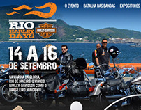 Website concept and Design for Rio Harley Days 2012