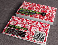 Creative Damask Business Card