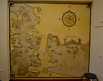 Game of Thrones | Westeros map mural