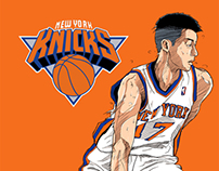 New York Knicks#17Jeremy Lin/橫洲工業#6 Shawn Yue