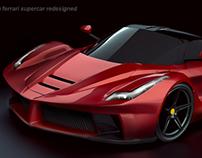 La Ferrari concept restyled lighting project