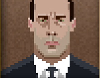 Mad Men Pixel Portraits