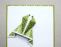 Postcard: Origami