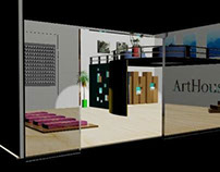 Exhibition Design on 3Ds MAX