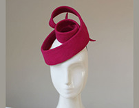 Architectural Hat in Red Felt