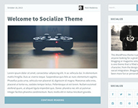 Socialize Wordpress Theme | Design Process