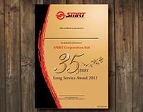 SMRT Long Service Award Certificate 2012
