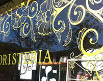 Erboristeria Magia Verde - Window painting