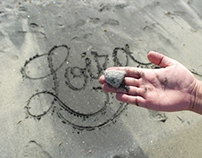 caligrafia en arena