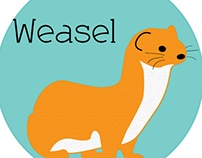 Logo Design: Easel Weasel