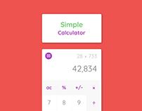 SimpleCalc - Calculator Mockup