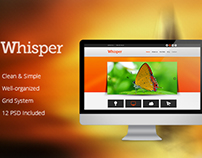 Whisper - PSD Template