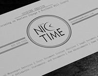 Nick of Time Courier Service Logo & Postcard