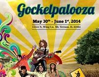 GOCKELPALOOZA MUSIC FESTIVAL POSTER