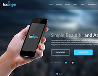 Bazinger Landing Page - Free PSD