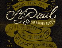 St Paul & The Broken Bones - Gigposter