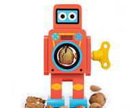 Wooden Robot Nutcrackers