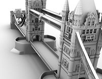 Tower Bridge 3D Model
