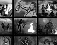 Horror movie Storyboard